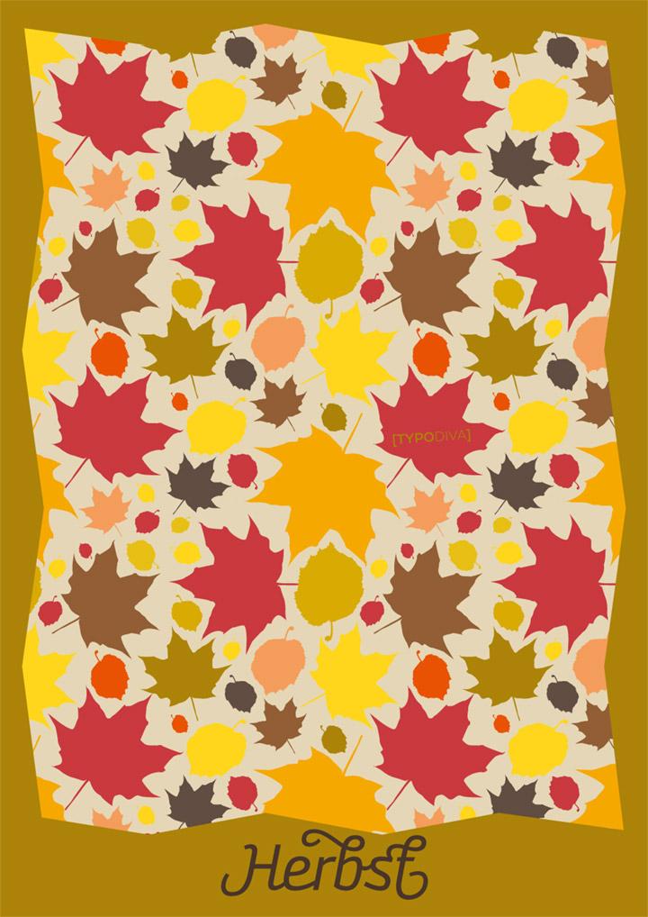 Herbst Muster Illustration