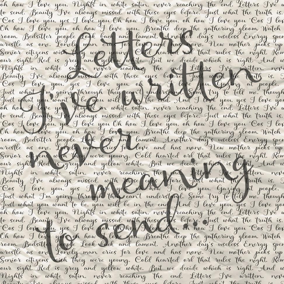 Letters I've written